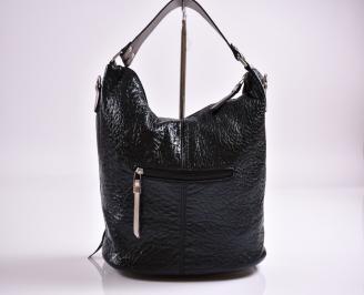 Дамска чанта еко кожа черна GWOY-27349