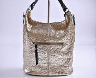 Дамска чанта еко кожа златиста JCVW-27350