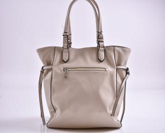 Дамска чанта еко кожа бежова BFMX-27351