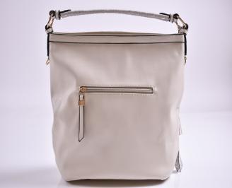 Дамска чанта еко кожа бежова KBPU-27353