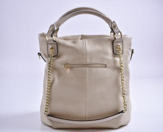 Дамска чанта еко кожа бежова EISN-27354