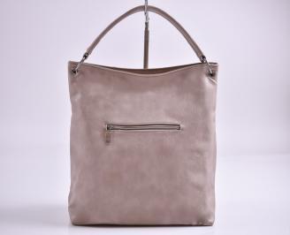 Дамска чанта еко кожа  пудра TTQC-27356