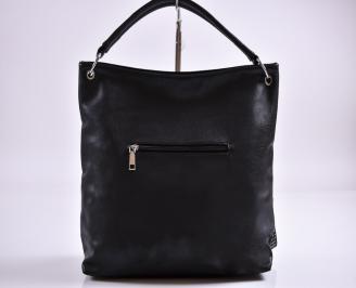 Дамска чанта еко кожа черна XPTP-27357