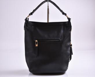 Дамска чанта еко кожа черна JVKS-27359