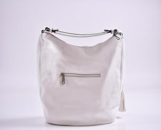 Дамска чанта еко кожа бяла DVKL-27363