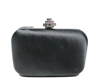 Дамска чанта еко кожа/сатен черна AKGE-16012