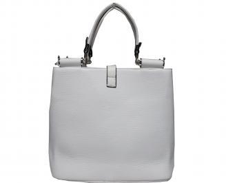 Дамска чанта еко кожа бяла OZWK-17834