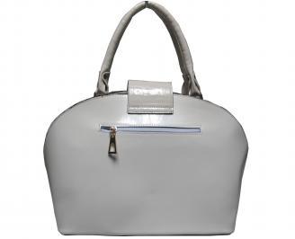 Дамска чанта еко кожа/лак бежова CCBJ-18106
