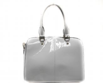 Дамска чанта еко кожа/лак бяла OARK-19940