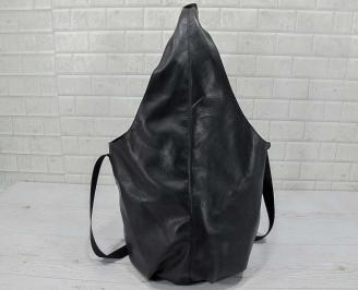 Дамска чанта естествена кожа черна ZPEJ-22801
