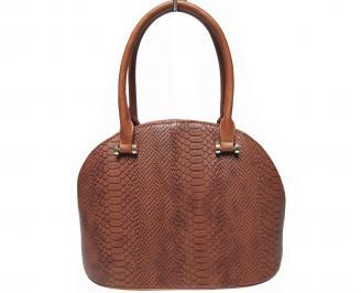 Дамска чанта  кафява кроко кожа LOFE-22430