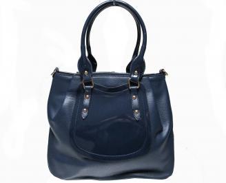 Дамска чанта синя еко кожа/лак MFCT-22616
