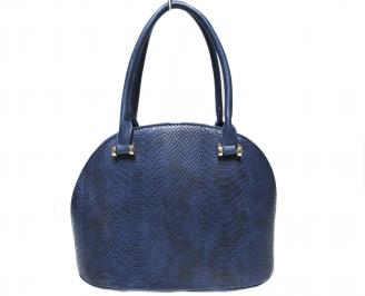Дамска чанта  синя кроко кожа PNUF-22419