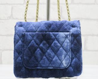 Дамска чанта  текстил синя MGIY-23587