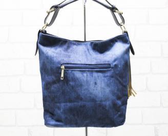 Дамска чанта текстил синя NODS-26332