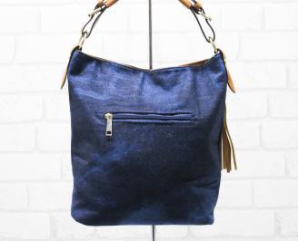 Дамска чанта текстил синя LDOJ-26334
