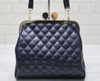 Дамска чанта  тъмно синя еко кожа JAUB-23404