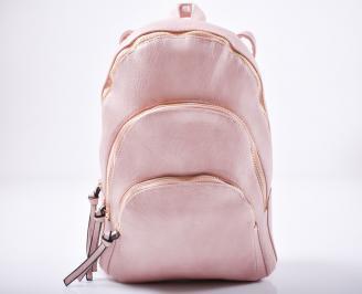 Дамска раница еко кожа розова USGJ-1011955