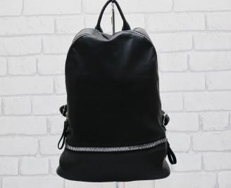 Дамска раница еко кожа черна QJCR-24870