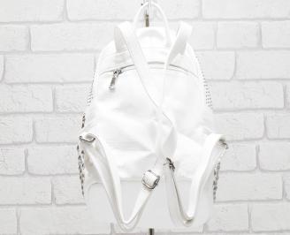 Дамска раница еко кожа бяла RXXC-26360