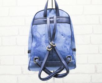 Дамска раница текстил синя GKMD-26319