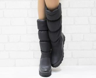 Дамски апрески  черни текстил/еко кожа LXUH-25518