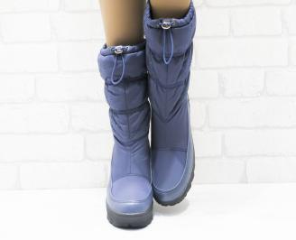 Дамски апрески сини текстил/шушлек IGIK-25504