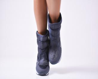 Дамски апрески  сини текстил/еко кожа YPFI-25570