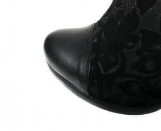Дамски боти черни естествена кожа MBPI-20455
