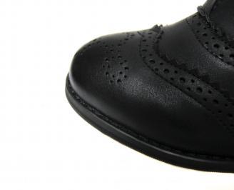 Дамски боти еко кожа черни TVAN-20544