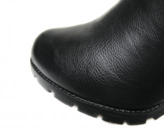 Дамски боти еко кожа черни JHHQ-17567