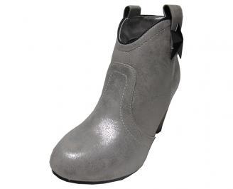 Дамски боти еко кожа сиви ERBA-14963