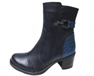Дамски боти еко кожа тъмно сини HNGU-22408