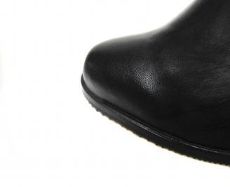 Дамски боти естествена кожа черни ZXBW-20545