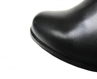Дамски боти естествена кожа черни PUPQ-20561
