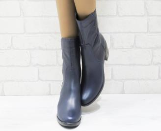 Дамски боти естествена кожа тъмно сини UKSO-22530