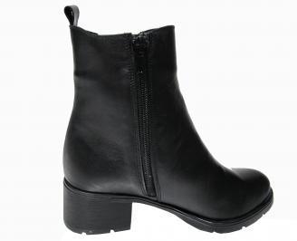 Дамски боти естествена кожа черни YCKV-22583