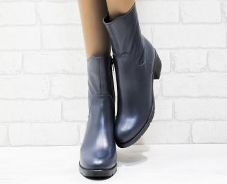 Дамски боти естествена кожа сини SCKG-25420