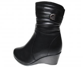Дамски боти ГИГАНТ  черни от еко кожа YFWG-22752