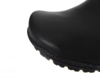 Дамски боти Гигант естествена кожа черни BQKC-18142