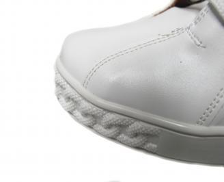 Дамски боти на платформа еко кожа бели OPFW-21175