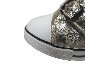 Дамски боти на платформа златисти еко кожа BMBC-21263