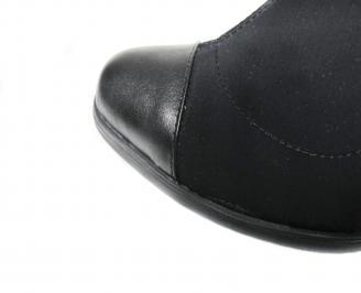 Дамски ботуши черни естествена кожа GFSK-20403