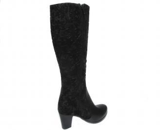 Дамски ботуши черни естествена кожа BMUY-20456