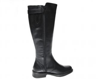 Дамски ботуши черни естествена кожа DRGE-22668