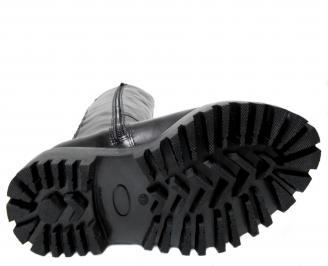 Дамски ботуши черни естествена кожа IHNV-22766