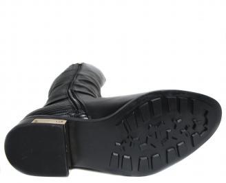 Дамски ботуши еко кожа черни YWJA-20426