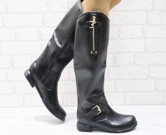 Дамски ботуши еко кожа черни PVEC-20542