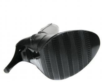 Дамски ботуши еко кожа черни OPXJ-20654