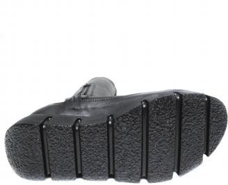 Дамски ботуши естествена кожа черни KIUX-20278